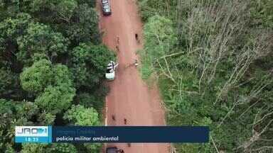 Invasores de terra armam emboscada contra policiais durante fiscalização, em RO - Poto Velho e Cujubim estão entre as cidades que mais desmataram.