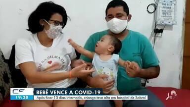 Bebê de 1 ano e 4 meses vence a covid-19 em Sobral - Confira mais notícias em g1.globo.com/ce