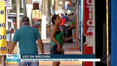 Polícia orienta sobre uso de máscara em Tangará da Serra - Polícia orienta sobre uso de máscara em Tangará da Serra