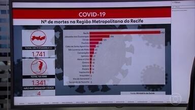 Pernambuco tem 1.741 mortes e 21.242 casos de Covid-19 - Ao todo, 148 municípios pernambucanos registram casos graves de pacientes com o novo coronavírus.