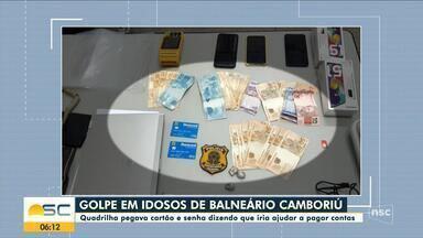 Quatro homens são presos suspeitos de aplicar golpe em idosos de Balneário Camboriú - Quatro homens são presos suspeitos de aplicar golpe em idosos de Balneário Camboriú