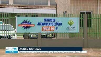 Pessoas recorrem à Justiça para conseguir atendimentos para pacientes com Covid-19 no AP - Pessoas recorrem à Justiça para conseguir atendimentos para pacientes com Covid-19 no Amapá