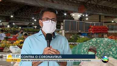 Ações de prevenção acontecem em feiras e mercados - Ações de prevenção acontecem em feiras e mercados.
