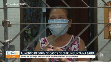 Bahia tem aumento de 540% no número de casos de chikungunya em 2020 - Doença preocupa muitos baianos, principalmente os moradores do bairro da Boca do Rio.