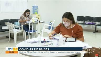 Profissionais de saúde monitoram casos suspeitos da Covid-19 em Balsas - São mais de cinquenta profissionais trabalhando diariamente para fazer o monitoramento dos pacientes com casos suspeitos e confirmados