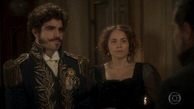 José Bonifácio reencontra Dom Pedro - O príncipe avisa que fará um jantar em homenagem ao amigo