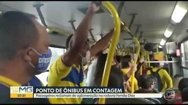 Telespectadores mostram ônibus cheios - A aglomeração de pessoas é risco em tempos de pandemia.