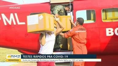 Rondônia recebe carga com 100 mil testes rápidos para Covid-19 - Rondônia recebe carga com 100 mil testes rápidos para Covid-19