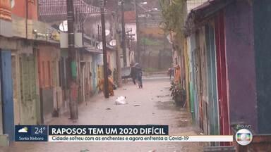 Raposos tem um 2020 difícil - Cidade sofreu com as enchentes e agora enfrenta a Covid-19.