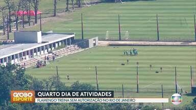 GE no DF1: Flamengo volta a treinar sem autorização durante a quarentena do Rio de Janeiro - GE no DF1: Flamengo volta a treinar sem autorização durante a quarentena do Rio de Janeiro