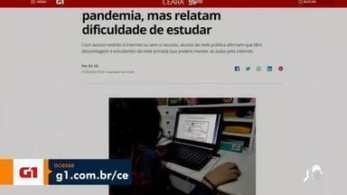 Veja os destaques do G1 Ceará com Valdir Almeida - Saiba mais em g1.com.br/ce