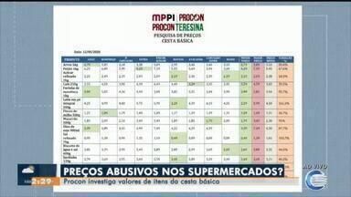 Procon fiscaliza preços de produtos da cesta básica em supermercados - Procon fiscaliza preços de produtos da cesta básica em supermercados