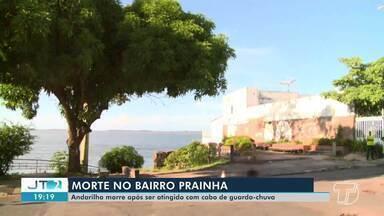 Homem morre após ser atingido por golpe com cabo de guarda-chuva em Santarém - Caso aconteceu no fim da tarde desta terça-feira (19).