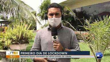 No primeiro dia de lockdown em Santarém, pessoas recebem orientações em barreiras - Para garantir o cumprimento do decreto ações foram realizadas em vários pontos da cidade.