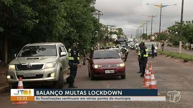 Saiba como foram os trabalhos de órgãos de segurança durante o lockdown em Santarém - Terceiro dia da medida com aplicação de multas foi intenso nas ruas da cidade.