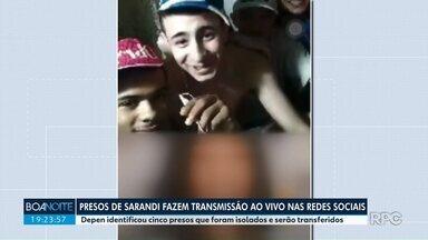 Presos de Sarandi fazem transmissão ao vivo nas redes sociais - Depen identificou cinco detentos, que foram isolados e devem ser transferidos.