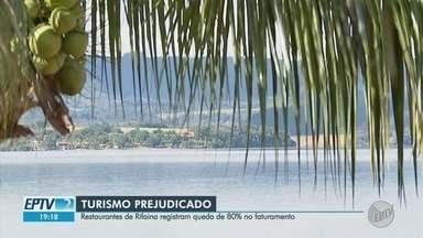 Por causa da pandemia, restaurantes registram queda de 80% no faturamento em Rifaina, SP - Balneário interrompeu turismo para frear avanço da doença e não tem casos de Covid-19.
