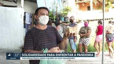 Solidariedade faz a diferença para encarar a pandemia - Na zona norte, uma simples distribuição de sabonetes ajudou muita gente