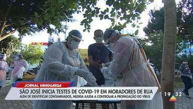 São José dos Campos inicia testes rápidos de Covid-19 em moradores de rua - Confira reportagem do Jornal Vanguarda desta quinta-feira (21).