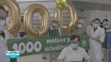 Médico é o milésimo paciente com Covid-19 a receber alta do Hospital Português, no Recife - Pernambuco tem mais de quatro mil curas clínicas e bate recorde no Brasil