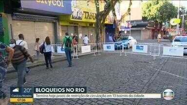 Terminam nesta segunda-feira (25) bloqueios em 13 bairros do Rio - Durante o mês de maio, o calçadão de Campo Grande esteve bloqueado. O trânsito de pedestres está liberado, porém, as lojas não-essenciais devem continuar fechadas.