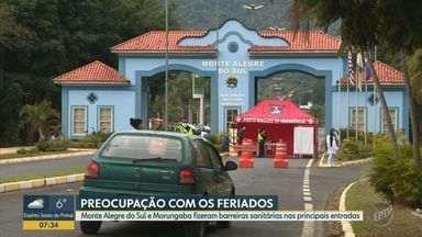 Morungaba e Monte Alegre do Sul fazem barreiras sanitárias para controlar entradas - Municípios controlam fluxo de veículos durante os três dias do megaferiado em Campinas. Ação é para impedir aumento de casos da Covid-19.