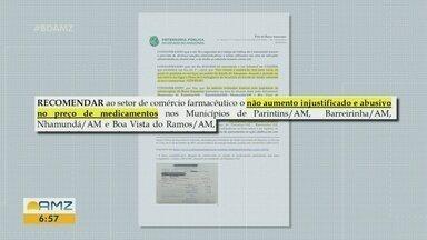 Mesmo com recomendação do MP, farmácias do baixo Amazonas aumentam preços de remédios - Comércios praticam preços abusivos.