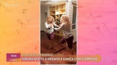 Joelma aceita o desafio e dança com o espelho - Confira!