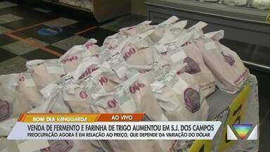 Venda de fermento e farinha de trigo aumenta em São José - Preocupação agora é em relação ao preço, que depende da variação do dólar