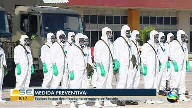 Aeroporto de Aracaju passa por desinfecção - Aeroporto de Aracaju passa por desinfecção.