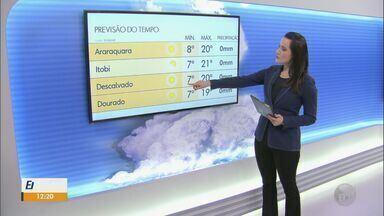 Confira a previsão do tempo para São Carlos e região nesta segunda-feira (25) - Confira a previsão do tempo para São Carlos e região nesta segunda-feira (25).
