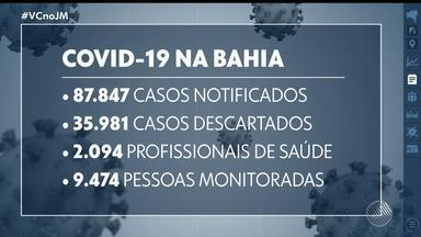 Bahia tem quase 14 mil casos confirmados de coronavírus, com 460 óbitos - O número de leitos disponíveis para pacientes com a Covid-19 está cada vez menor, tanto na rede pública quanto na rede particular de saúde.