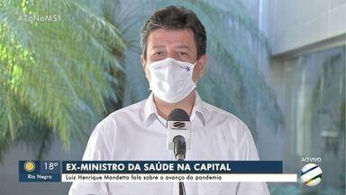 Ex-ministro da Saúde, Luiz Henrique Mandetta, fala sobre avanço da pandemia da covid-19 - Ex-ministro da Saúde, Luiz Henrique Mandetta, fala sobre avanço da pandemia da covid-19