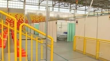 Hospital de campanha começa a funcionar em Sorocaba - O hospital de campanha de Sorocaba (SP) está funcionando. Desde a manhã desta segunda-feira (25), a unidade está pronta para receber pacientes com suspeita ou casos confirmados da Covid-19.