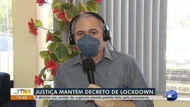 Prefeito Nélio Aguiar explica novas medidas adotadas na prorrogação do lockdown - Justiça concedeu liminar urgente atendendo a pedido da promotoria.