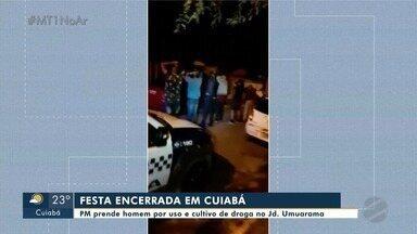 PM prende homem por uso e cultivo de droga no Jd. Umuarama - PM prende homem por uso e cultivo de droga no Jd. Umuarama.