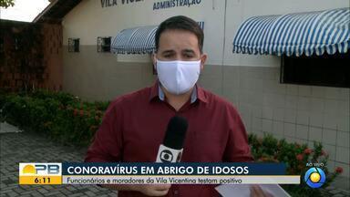 Abrigo de idosos tem 14 casos confirmados da Covid-19, em João Pessoa - Oito idosos testaram positivo para o coronavírus e 6 funcionários, diz vice-diretor da Vila Vicentina.