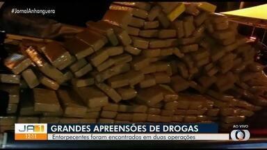 Polícia apreende quase 2 toneladas de droga, em Goiás - Uma tonelada e meia foi apreendida no Entorno do Distrito Federal e outros 700 kg em Aparecida de Goiânia.