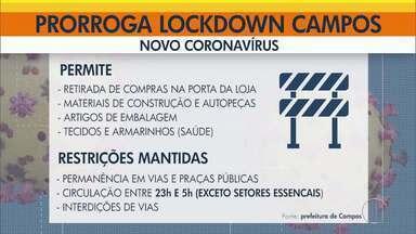 Lockdown é prorrogado em Campos dos Goytacazes, no RJ - Algumas medidas de acesso ao comércio e serviços foram flexibilizadas. Fica autorizado o funcionamento de todos os serviços de saúde, como hospitais, clínicas, laboratórios, clínicas de medicina do trabalho, e o funcionamento de distribuidoras de produtos médicos e EPIs.