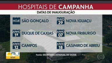 Governo promete inaugurar hospital de Nova Iguaçu nesta sexta (29) - Nesta sexta-feira (29) será inaugurado o hospital de campanha de Nova Iguaçu. Funcionarão dois hospitais, um modular, que ficará sendo usado após a pandemia e o hospital de campanha.