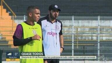 XV de Piracicaba tem praticamente todo o elenco com contrato renovado - Permanências são de atletas que darão sequência à Série A2.