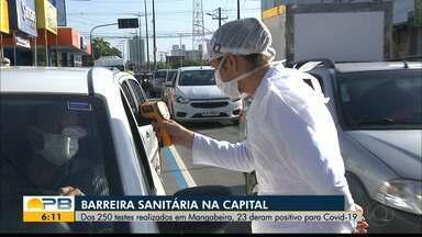 Barreiras sanitárias identificam 23 pessoas com coronavírus durante a manhã em Mangabeira - 'Operação Proteção' realizou 250 testes de Covid-19 em Mangabeira.
