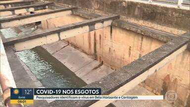 Coronavírus: Pesquisadores identificam aumento de incidência no esgoto de Belo Horizonte - Também foi identificado aumento de incidência no esgoto da cidade de Contagem.