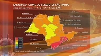 Regiões de Bauru e Marília terão flexibilizações diferentes do comércio - As regiões de Bauru e Marília (SP) estão em fases diferentes no novo plano de retomada da economia, segundo o governo do Estado de São Paulo, para a flexibilização durante a pandemia do coronavírus.