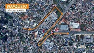 Mudança no trânsito na Linha Verde - Começa hoje bloqueio total na Av. Marechal Mascarenhas de Moraes, no Atuba.