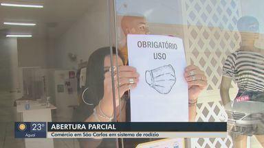 Comércio em São Carlos reabre em sistema de rodízio - Lojas voltaram a funcionar nesta quinta-feira (28).