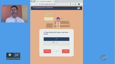 Empresa desenvolve ferramenta para acompanhamento online de pacientes que tiveram Covid-19 - A empresa Motorola desenvolveu uma ferramenta online para os pacientes que estavam com coronavírus possam receber acompanhamento dos médicos do HC da Unicamp sem sair de casa.