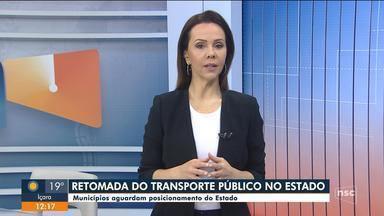 Municípios aguardam a decisão do Estado para retomada de transporte público - Municípios aguardam a decisão do Estado para retomada de transporte público