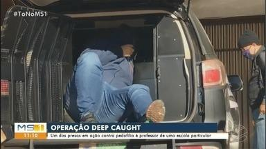 Professor é preso em operação de combate à pornografia infantil - Operação Deep Caught cumpre mandados em Campo Grande e em mais três cidades