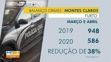 Polícia Civil registra menor número de ocorrências durante a pandemia, em Montes Claros - Comparando os registros de março e abril de 2019 e 2020, os números de furtos caíram em 38%.